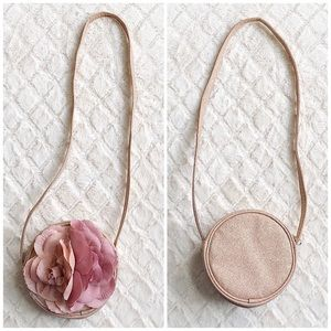 5/$25 SALE CHILDRENS PLACE Glitter Flower Purse